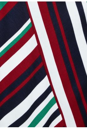 Jersey Wrap Dress w stripes L9