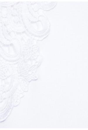shirt w.lace shoulder - 10000/