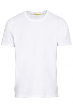 Kurzarm Basic T-Shirt aus rein