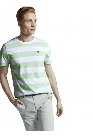 striped T-shirt w. small print