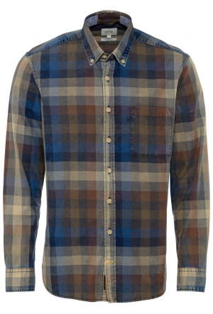 Langarm Hemd mit Button-Down-K