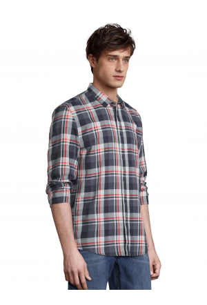 checked flannel shirt - 28514/