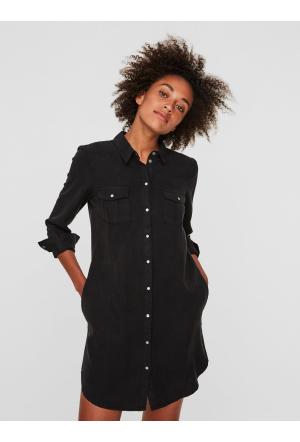 VMSILLA LS SHORT DRESS BLCK GA